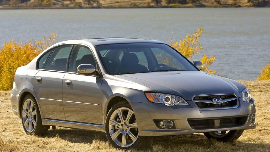 Subaru Legacy (2003). Выпускается с 2003 года. Пятнадцать базовых комплектаций. Цены от 910 300 до 1 427 300 руб.Двигатель от 2.0 до 3.0, бензиновый. Привод полный. КПП: механическая и автоматическая.