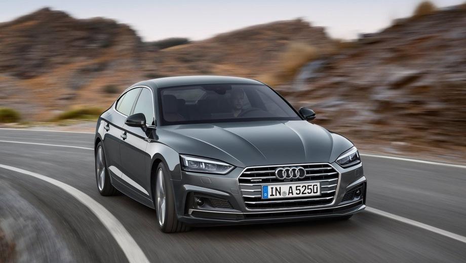 Audi A5 Sportback. Выпускается с 2016 года. Пять базовых комплектаций. Цены от 2 600 000 до 3 272 000 руб.Двигатель 2.0, бензиновый и дизельный. Привод передний и полный. КПП: роботизированная.