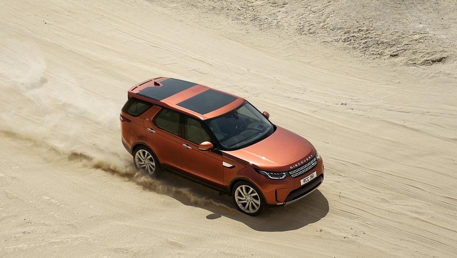 Land Rover Discovery. Выпускается с 2017 года. Восемь базовых комплектаций. Цены от 4 265 000 до 6 290 000 руб.Двигатель 3.0, дизельный и бензиновый. Привод полный. КПП: автоматическая.