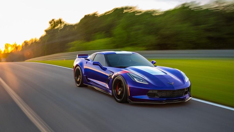 Chevrolet Corvette Grand Sport. Выпускается с 2017 года. Одна базовая комплектация. Цена 7 500 000 руб.Двигатель 6.2, бензиновый. Привод задний. КПП: автоматическая.