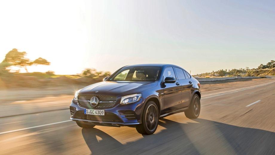 Mercedes-Benz GLC 43 AMG Coupe. Выпускается с 2016 года. Одна базовая комплектация. Цена 5 220 000 руб.Двигатель 3.0, бензиновый. Привод полный. КПП: автоматическая.
