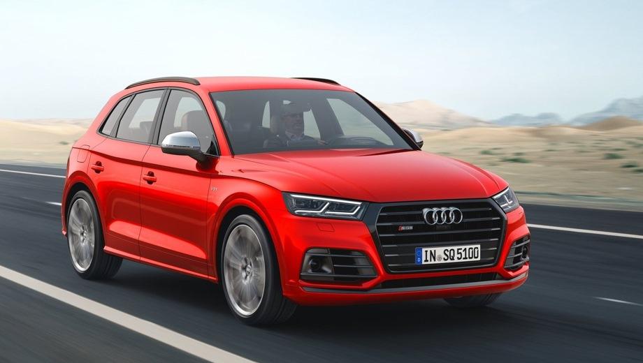 Audi SQ5. Выпускается с 2017 года. Одна базовая комплектация. Цена 4 825 000 руб.Двигатель 3.0, бензиновый. Привод полный. КПП: автоматическая.