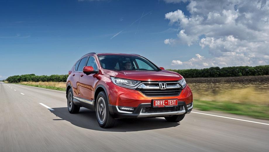 Honda CR-V. Выпускается с 2016 года. Шесть базовых комплектаций. Цены от 2 134 900 до 2 689 900 руб.Двигатель от 2.0 до 2.4, бензиновый. Привод полный. КПП: вариатор.