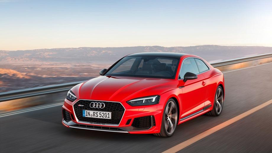 Audi RS 5. Выпускается с 2017 года. Одна базовая комплектация. Цена 6 045 000 руб.Двигатель 2.9, бензиновый. Привод полный. КПП: автоматическая.