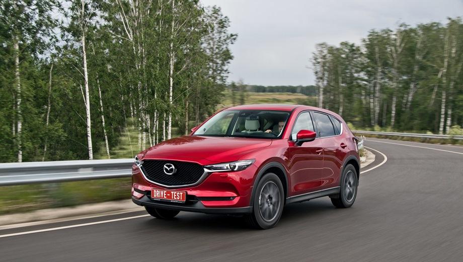 Mazda CX-5. Выпускается с 2017 года. Восемь базовых комплектаций. Цены от 1 595 000 до 2 535 000 руб.Двигатель от 2.0 до 2.5, бензиновый. Привод передний и полный. КПП: механическая и автоматическая.