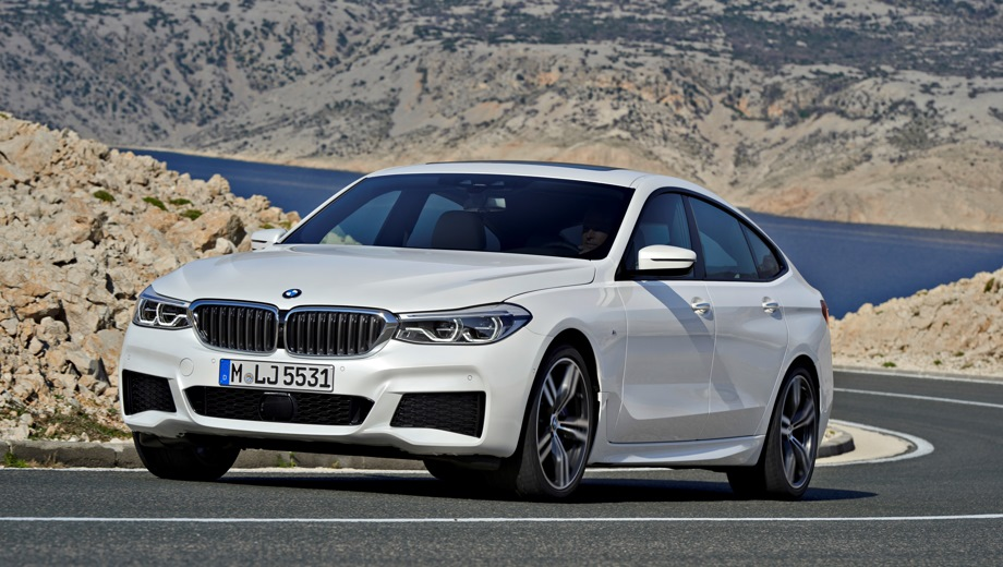 BMW 6 GT. Выпускается с 2017 года. Пять базовых комплектаций. Цены от 3 750 000 до 4 810 000 руб.Двигатель от 2.0 до 3.0, бензиновый и дизельный. Привод задний и полный. КПП: автоматическая.