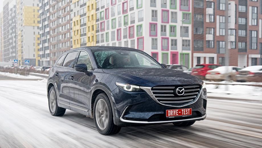 Mazda CX-9. Выпускается с 2016 года. Семь базовых комплектаций. Цены от 2 795 000 до 3 357 000 руб.Двигатель 2.5, бензиновый. Привод полный. КПП: автоматическая.