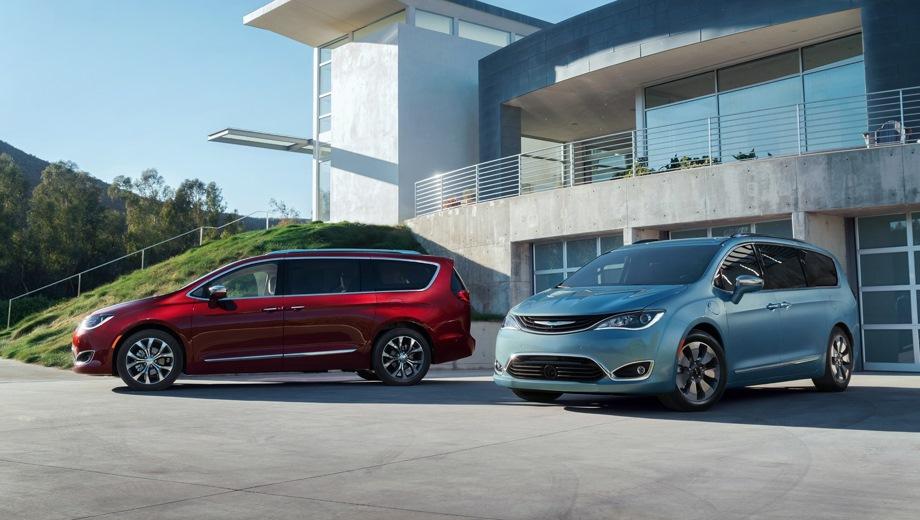 Chrysler Pacifica. Выпускается с 2016 года. Одна базовая комплектация. Цена 4 189 000 руб.Двигатель 3.6, бензиновый. Привод передний. КПП: автоматическая.