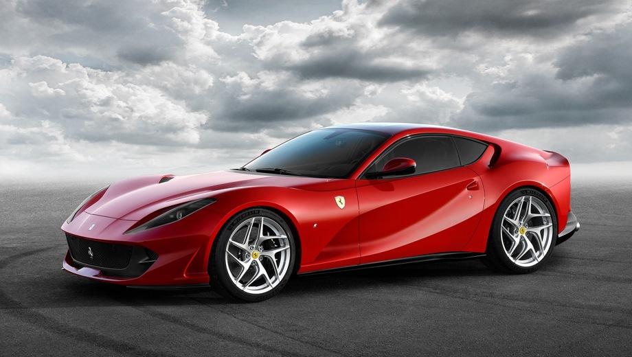 Ferrari 812 Superfast. Выпускается с 2017 года. Одна базовая комплектация. Цена 26 000 000 руб.Двигатель 6.5, бензиновый. Привод задний. КПП: роботизированная.