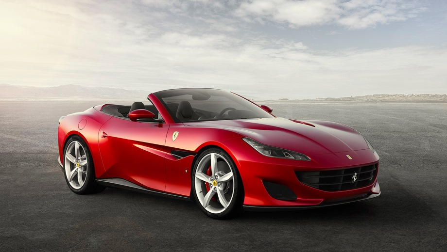 Ferrari Portofino. Выпускается с 2017 года. Одна базовая комплектация. Цена 19 500 000 руб.Двигатель 3.9, бензиновый. Привод задний. КПП: роботизированная.