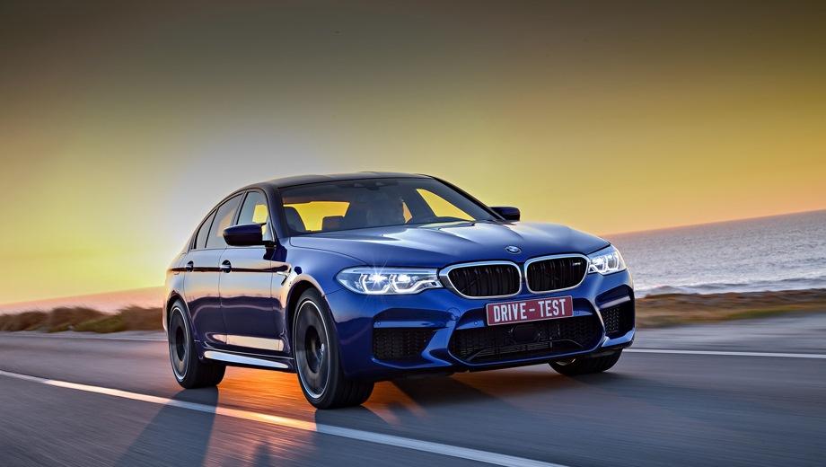 BMW M5. Выпускается с 2017 года. Две базовые комплектации. Цены от 8 280 000 до 8 300 000 руб.Двигатель 4.4, бензиновый. Привод полный. КПП: автоматическая.