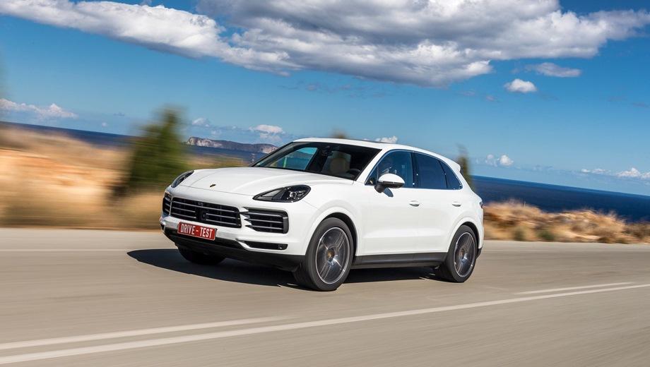 Porsche Cayenne. Выпускается с 2017 года. Шесть базовых комплектаций. Цены от 5 630 000 до 12 610 000 руб.Двигатель от 2.9 до 4.0, бензиновый и гибридный. Привод полный. КПП: автоматическая.