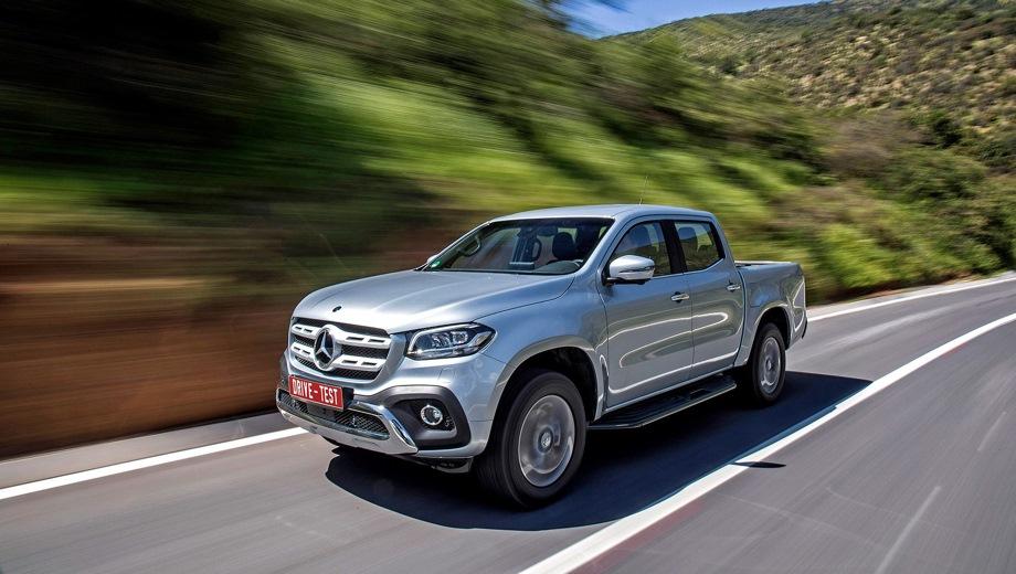 Mercedes-Benz X. Выпускается с 2017 года. Пять базовых комплектаций. Цены от 2 899 000 до 4 089 000 руб.Двигатель от 2.3 до 3.0, дизельный. Привод полный. КПП: механическая и автоматическая.