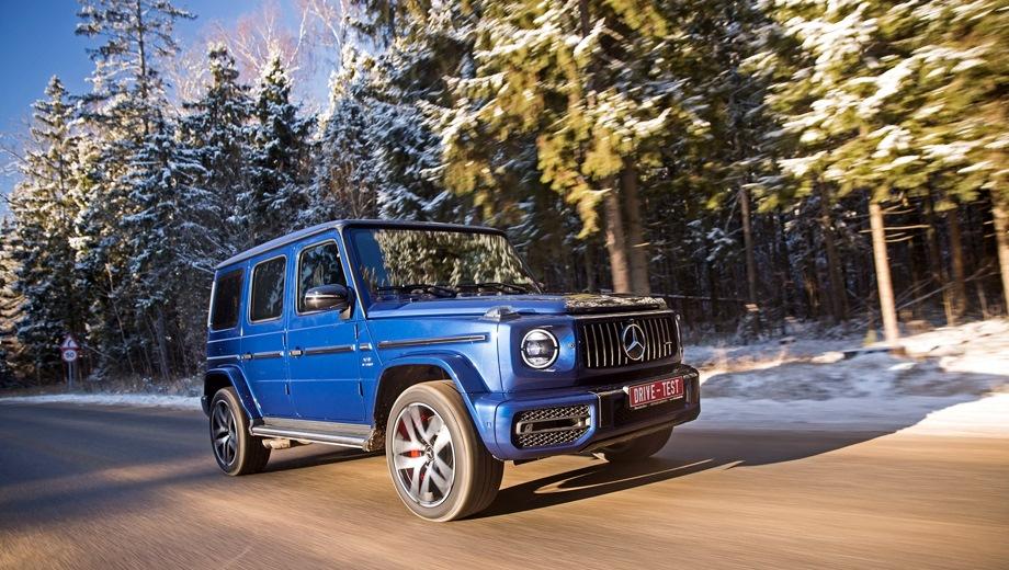 Mercedes-Benz G 63 AMG. Выпускается с 2018 года. Одна базовая комплектация. Цена 13 150 000 руб.Двигатель 4.0, бензиновый. Привод полный. КПП: автоматическая.