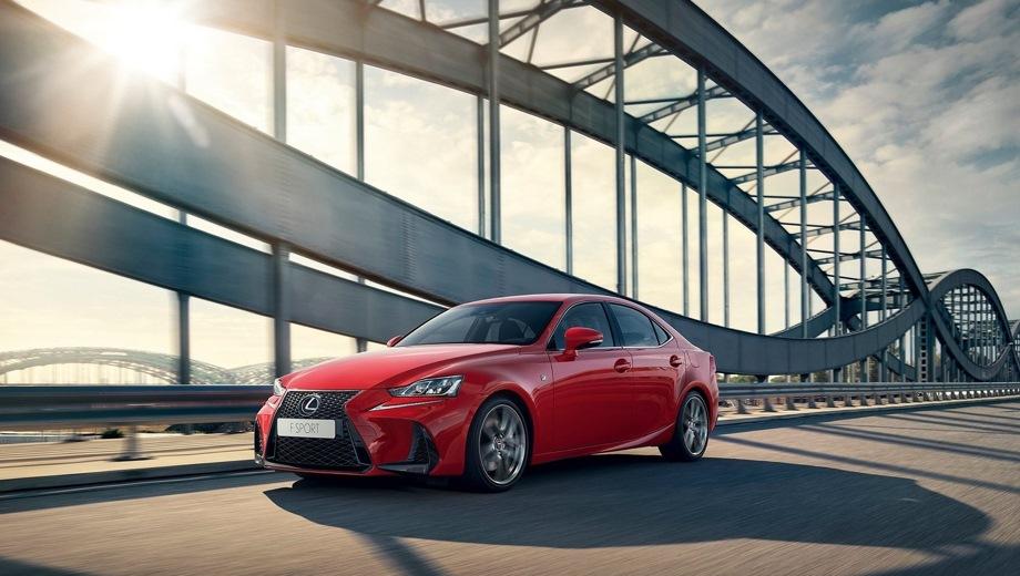Lexus IS. Выпускается с 2016 года. Три базовые комплектации. Цены от 2 299 000 до 2 959 000 руб.Двигатель 2.0, бензиновый. Привод задний. КПП: автоматическая.