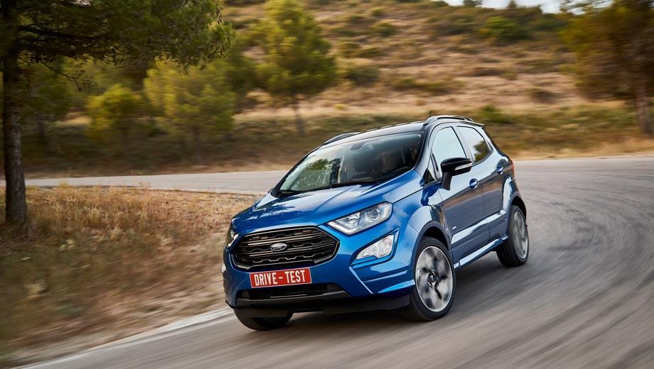 Ford Ecosport. Выпускается с 2017 года. Одиннадцать базовых комплектаций. Цены от 999 000 до 1 447 000 руб.Двигатель от 1.5 до 2.0, бензиновый. Привод передний и полный. КПП: механическая и автоматическая.