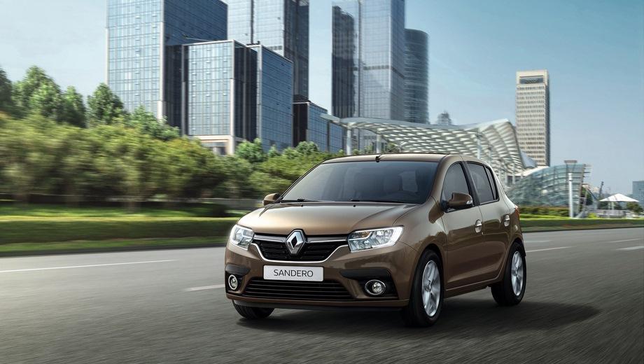 Renault Sandero. Выпускается с 2018 года. Семь базовых комплектаций. Цены от 577 000 до 817 990 руб.Двигатель 1.6, бензиновый. Привод передний. КПП: механическая и автоматическая.