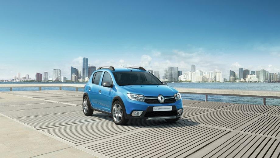 Renault Sandero Stepway. Выпускается с 2018 года. Шесть базовых комплектаций. Цены от 738 990 до 891 990 руб.Двигатель 1.6, бензиновый. Привод передний. КПП: механическая и автоматическая.