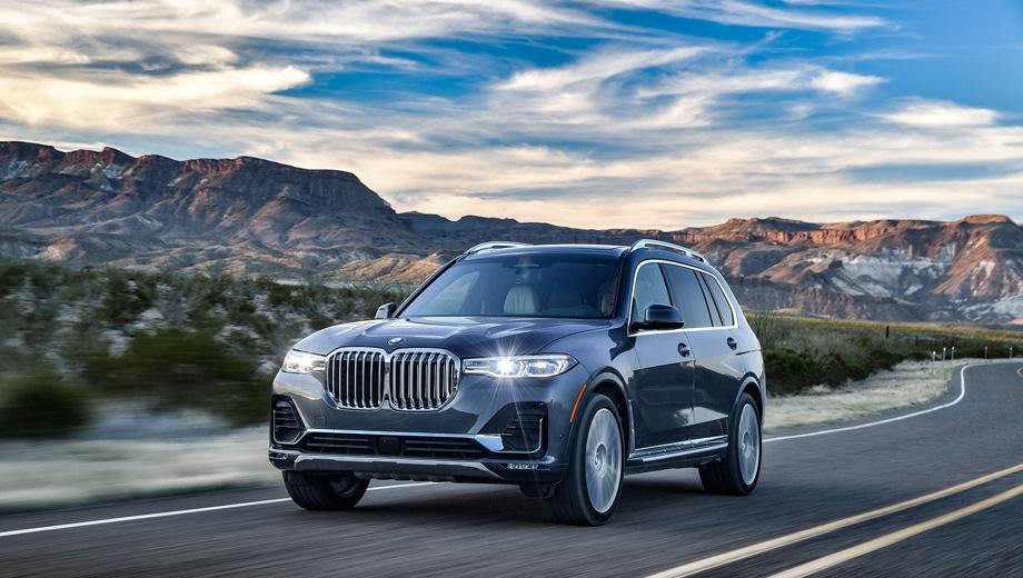 BMW X7. Выпускается с 2018 года. Четыре базовые комплектации. Цены от 6 660 000 до 8 970 000 руб.Двигатель от 3.0 до 4.4, дизельный и бензиновый. Привод полный. КПП: автоматическая.