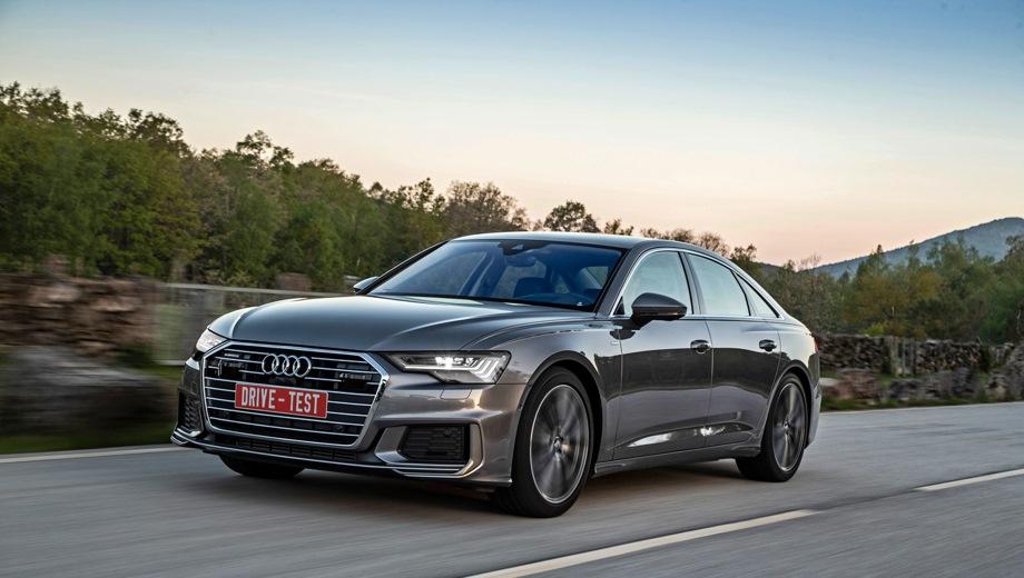 Audi A6. Выпускается с 2018 года. Четыре базовые комплектации. Цены от 3 995 000 до 4 375 000 руб.Двигатель 3.0, бензиновый. Привод полный. КПП: роботизированная.