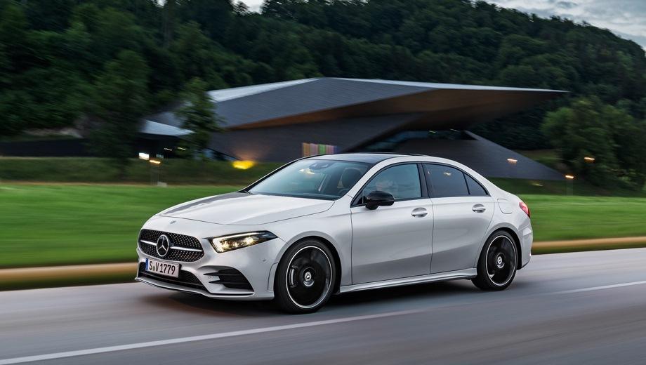 Mercedes-Benz A Sedan. Выпускается с 2018 года. Четыре базовые комплектации. Цены от 1 850 000 до 3 483 800 руб.Двигатель от 1.3 до 2.0, бензиновый. Привод передний и полный. КПП: роботизированная.