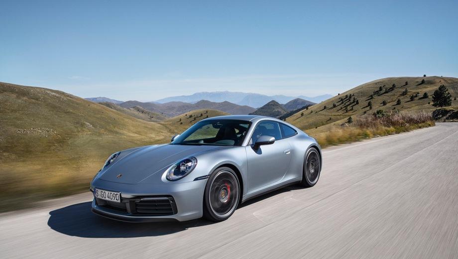 Porsche 911 Carrera Coupe. Выпускается с 2018 года. Две базовые комплектации. Цены от 8 116 000 до 8 587 000 руб.Двигатель 3.0, бензиновый. Привод задний и полный. КПП: роботизированная.