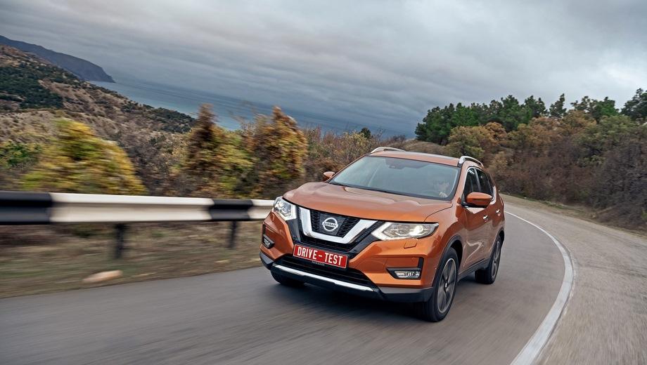 Nissan X-Trail. Выпускается с 2018 года. Двадцать семь базовых комплектаций. Цены от 1 574 000 до 2 234 000 руб.Двигатель от 1.6 до 2.5, бензиновый и дизельный. Привод передний и полный. КПП: механическая и вариатор.