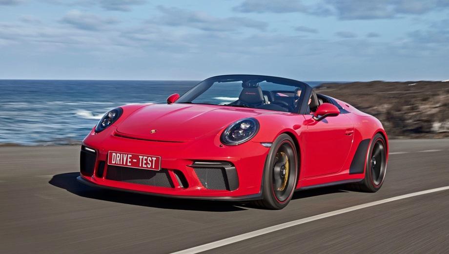 Porsche 911 Speedster. Выпускается с 2019 года. Одна базовая комплектация. Цена 21 681 000 руб.Двигатель 4.0, бензиновый. Привод задний. КПП: механическая.
