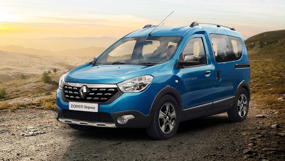 Renault Dokker Stepway. Выпускается с 2012 года. Две базовые комплектации. Цены от 1 059 990 до 1 179 990 руб.Двигатель от 1.5 до 1.6, бензиновый и дизельный. Привод передний. КПП: механическая.
