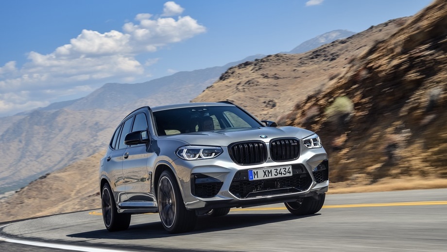 BMW X3 M. Выпускается с 2019 года. Две базовые комплектации. Цены от 6 690 000 до 7 680 000 руб.Двигатель 3.0, бензиновый. Привод полный. КПП: автоматическая.
