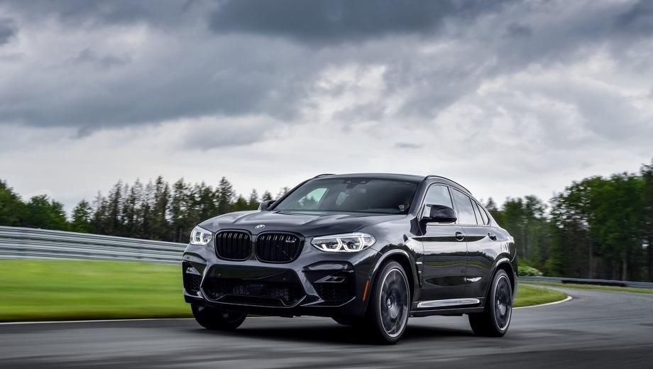 BMW X4 M. Выпускается с 2019 года. Две базовые комплектации. Цены от 6 820 000 до 7 840 000 руб.Двигатель 3.0, бензиновый. Привод полный. КПП: автоматическая.