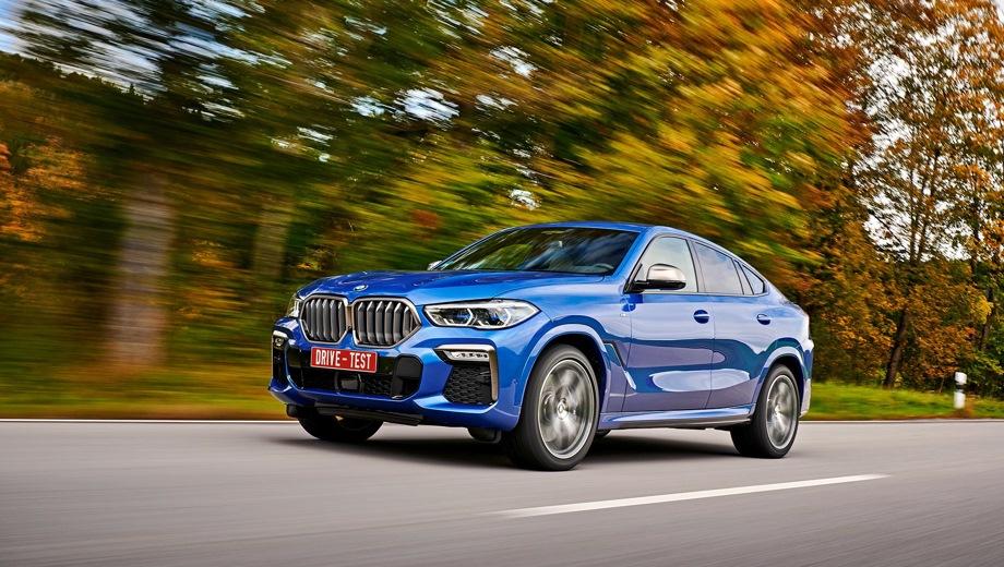 BMW X6. Выпускается с 2019 года. Пять базовых комплектаций. Цены от 6 950 000 до 8 970 000 руб.Двигатель от 3.0 до 4.4, дизельный и бензиновый. Привод полный. КПП: автоматическая.