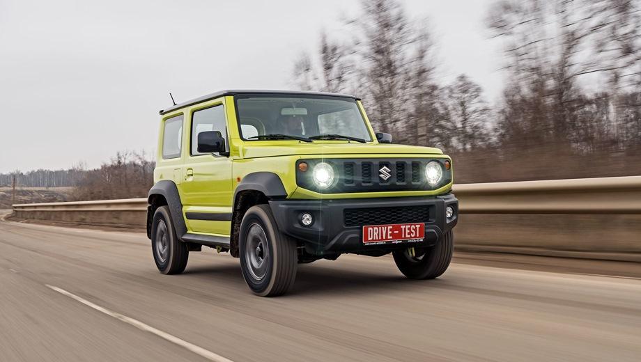 Suzuki Jimny. Выпускается с 2018 года. Три базовые комплектации. Цены от 1 589 000 до 1 799 000 руб.Двигатель 1.5, бензиновый. Привод полный. КПП: механическая и автоматическая.