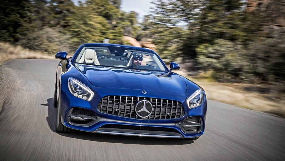 Mercedes-Benz GT AMG Roadster. Выпускается с 2017 года. Одна базовая комплектация. Цена 11 800 000 руб.Двигатель 4.0, бензиновый. Привод задний. КПП: роботизированная.