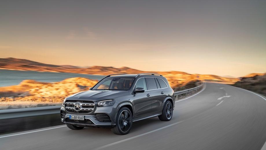 Mercedes-Benz GLS. Выпускается с 2019 года. Шесть базовых комплектаций. Цены от 9 390 000 до 11 380 000 руб.Двигатель от 2.9 до 3.0, дизельный и бензиновый. Привод полный. КПП: автоматическая.