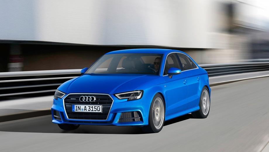 Audi A3 Sedan. Выпускается с 2016 года. Шесть базовых комплектаций. Цены от 1 970 000 до 2 257 000 руб.Двигатель от 1.4 до 2.0, бензиновый. Привод передний и полный. КПП: роботизированная.