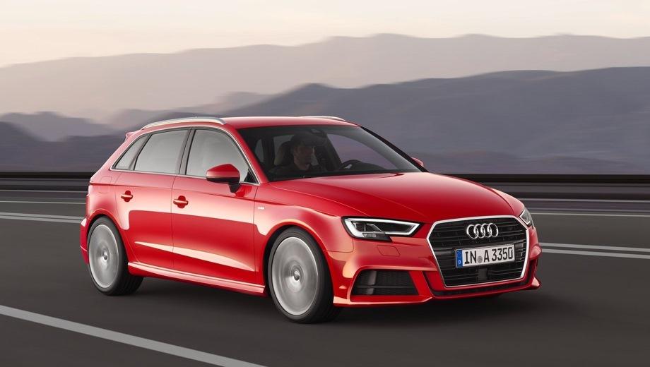 Audi A3 Sportback. Выпускается с 2016 года. Шесть базовых комплектаций. Цены от 1 955 000 до 2 240 000 руб.Двигатель от 1.4 до 2.0, бензиновый. Привод передний и полный. КПП: роботизированная.