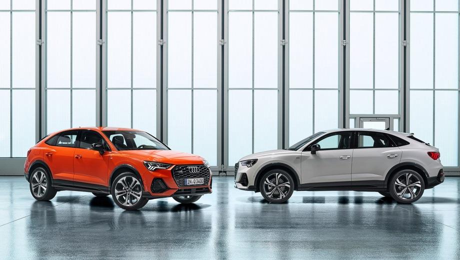 Audi Q3 Sportback. Выпускается с 2019 года. Шесть базовых комплектаций. Цены от 2 526 000 до 3 145 000 руб.Двигатель от 1.4 до 2.0, бензиновый. Привод передний и полный. КПП: роботизированная.