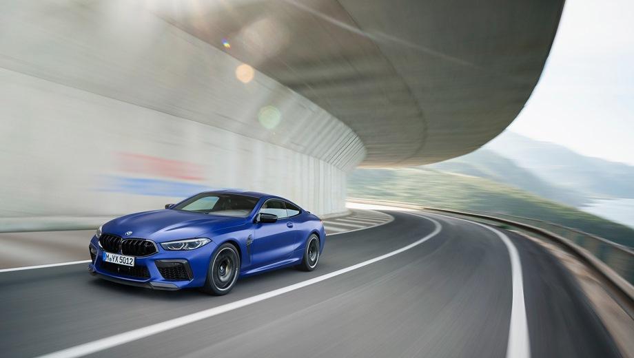 BMW M8 Coupe. Выпускается с 2019 года. Две базовые комплектации. Цены от 11 800 000 до 13 510 000 руб.Двигатель 4.4, бензиновый. Привод полный. КПП: автоматическая.