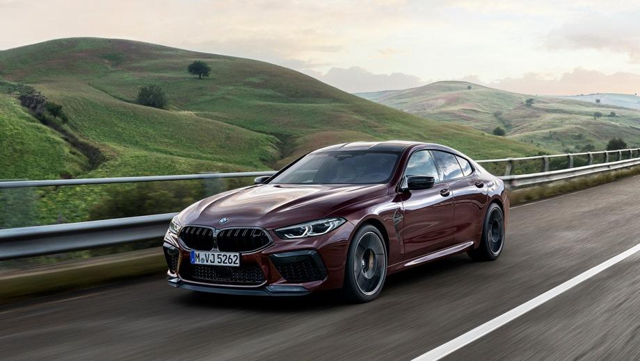 BMW M8 Gran Coupe. Выпускается с 2019 года. Две базовые комплектации. Цены от 11 210 000 до 13 040 000 руб.Двигатель 4.4, бензиновый. Привод полный. КПП: автоматическая.