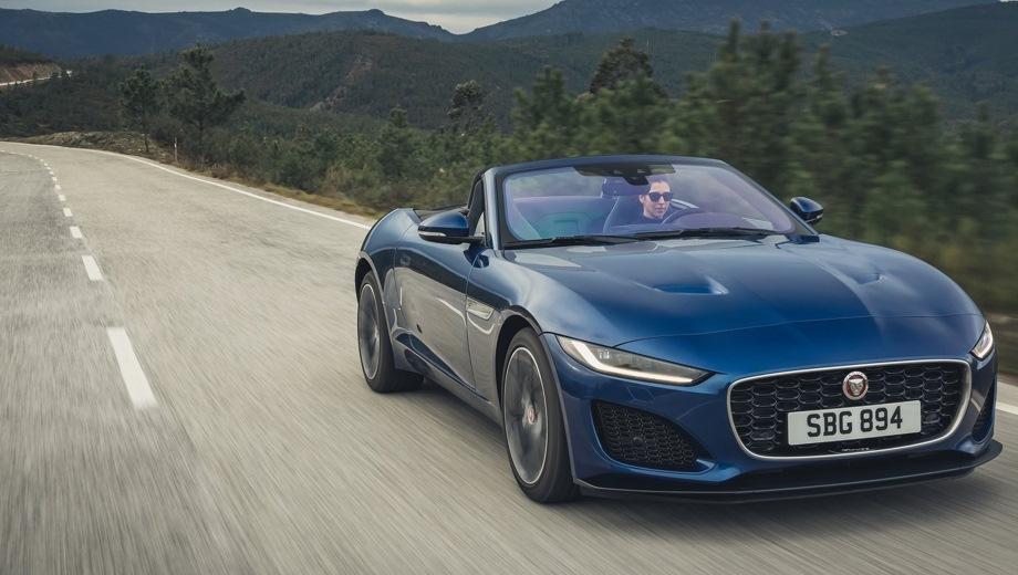 Jaguar F-Type. Выпускается с 2019 года. Шесть базовых комплектаций. Цены от 5 928 000 до 10 589 000 руб.Двигатель от 2.0 до 5.0, бензиновый. Привод задний и полный. КПП: автоматическая.