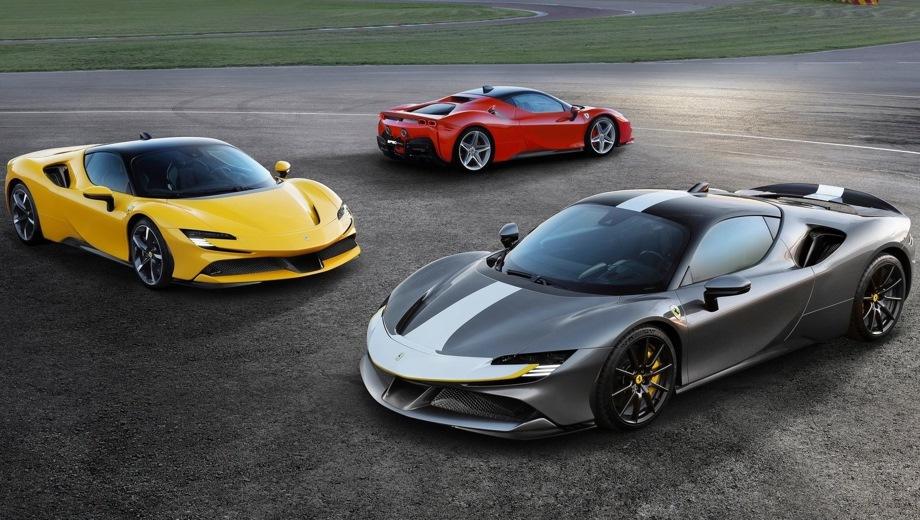 Ferrari SF90 Stradale. Выпускается с 2019 года. Одна базовая комплектация. Цена 36 000 000 руб.Двигатель 4.0, гибридный. Привод полный. КПП: роботизированная.