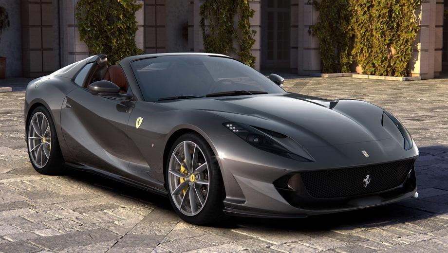 Ferrari 812 GTS. Выпускается с 2019 года. Одна базовая комплектация. Цена 27 000 000 руб.Двигатель 6.5, бензиновый. Привод задний. КПП: роботизированная.