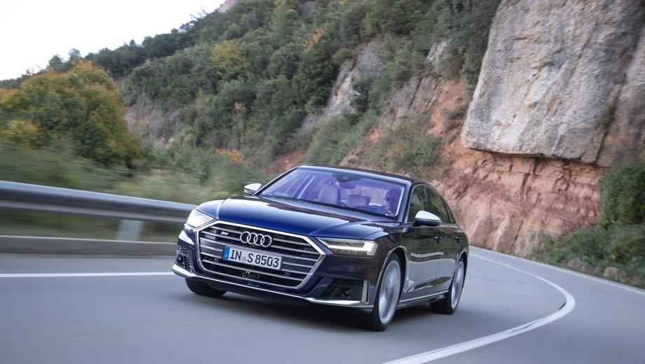 Audi S8. Выпускается с 2019 года. Одна базовая комплектация. Цена 10 290 000 руб.Двигатель 4.0, бензиновый. Привод полный. КПП: автоматическая.