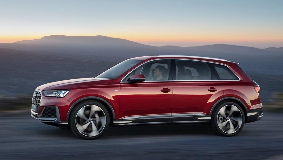 Audi Q7. Выпускается с 2019 года. Четыре базовые комплектации. Цены от 4 805 000 до 5 465 000 руб.Двигатель 3.0, дизельный. Привод полный. КПП: автоматическая.