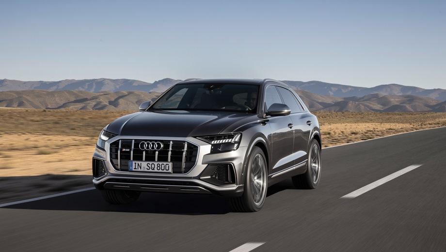 Audi SQ8. Выпускается с 2019 года. Одна базовая комплектация. Цена 7 100 000 руб.Двигатель 4.0, дизельный. Привод полный. КПП: автоматическая.