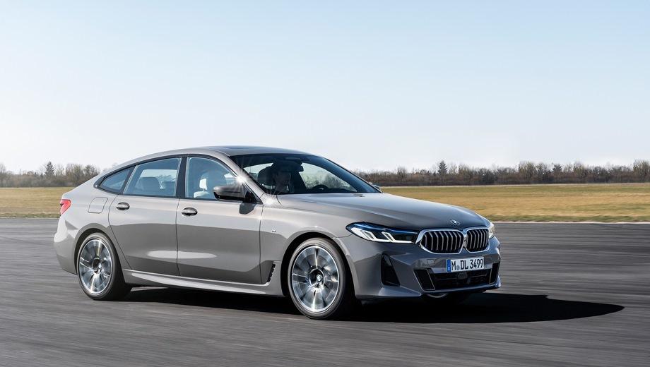 BMW 6 GT. Выпускается с 2020 года. Четыре базовые комплектации. Цены от 4 760 000 до 5 870 000 руб.Двигатель от 2.0 до 3.0, бензиновый и дизельный. Привод задний и полный. КПП: автоматическая.