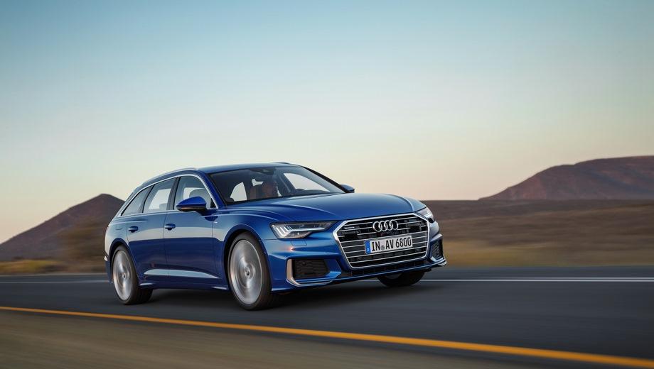 Audi A6 Avant. Выпускается с 2018 года. Двенадцать базовых комплектаций. Цены от 4 135 000 до 5 345 000 руб.Двигатель от 2.0 до 3.0, дизельный и бензиновый. Привод передний и полный. КПП: роботизированная и автоматическая.