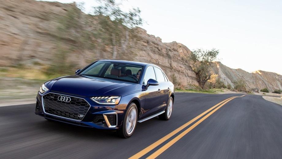Audi A4. Выпускается с 2019 года. Двенадцать базовых комплектаций. Цены от 2 460 000 до 3 365 000 руб.Двигатель 2.0, бензиновый. Привод передний и полный. КПП: роботизированная.