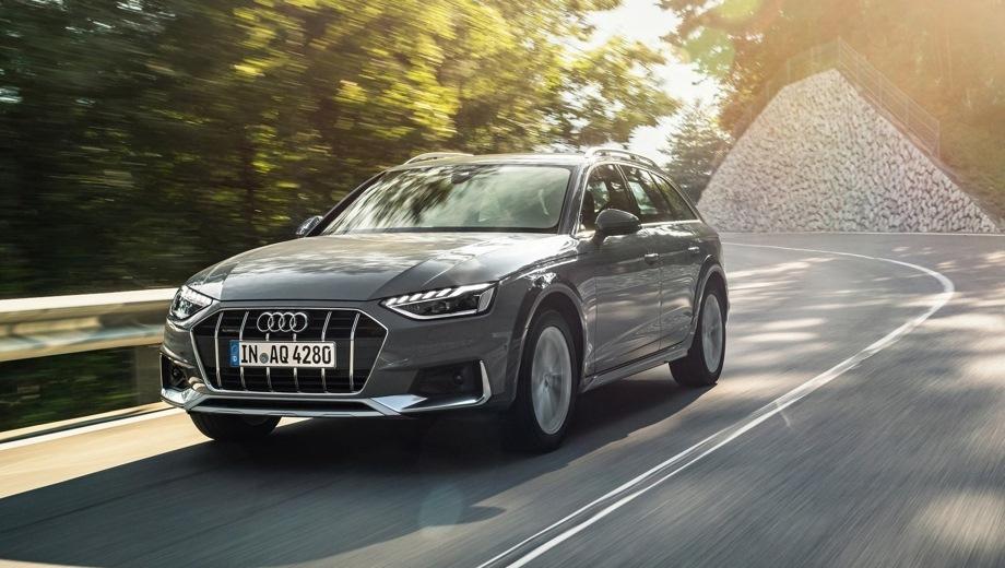 Audi A4 Allroad. Выпускается с 2019 года. Две базовые комплектации. Цены от 3 760 000 до 3 870 000 руб.Двигатель 2.0, бензиновый. Привод полный. КПП: роботизированная.